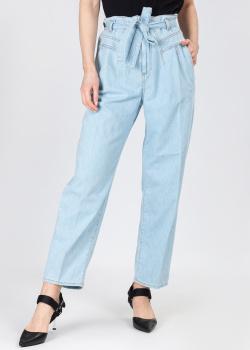 Голубые джинсы-мом Pinko с поясом, фото
