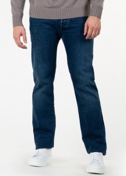 Синие джинсы Jacob Cohen с логотипом на поясе, фото