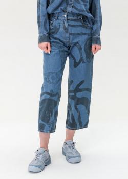 Широкие джинсы Kenzo с абстрактным принтом, фото