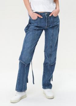 Синие джинсы Kenzo с завязками, фото