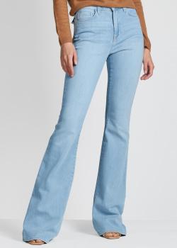 Расклешенные джинсы L'agence голубого цвета, фото