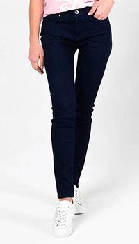 Узкие джинсы Love Moschino синего цвета, фото