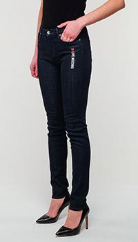 Зауженные джинсы Love Moschino с логотипом, фото