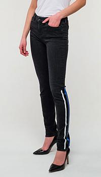 Черные джинсы Love Moschino с лампасами, фото