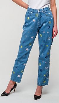 Джинсы Love Moschino с принтом в виде звезд, фото