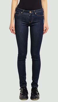 Зауженные джинсы Love Moschino темно-синие, фото