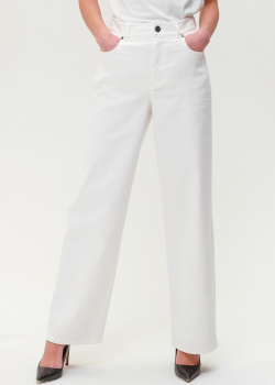 Расклешенные джинсы Max Mara Weekend белого цвета, фото