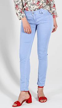 Голубые джинсы-скинни Love Moschino с низкой талией, фото