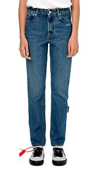 Прямые джинсы Off-White с принтом и логотипом, фото