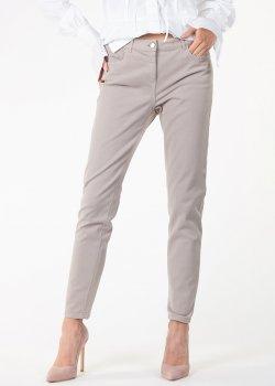 Укороченные джинсы Fabiana Filippi бежевого цвета, фото
