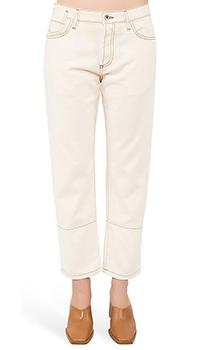 Женские джинсы Marni бежевого цвета, фото