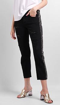 Черные джинсы Silvian Heach со стразами, фото