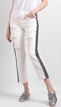 Белые джинсы Silvian Heach со стразами, фото