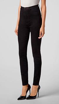 Черные джинсы Philipp Plein с высокой талией, фото