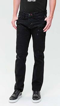 Черные джинсы Philipp Plein с лого на заднем кармане, фото