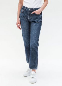 Синие джинсы Philipp Plein с кристаллами, фото