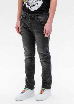 Черные джинсы Philipp Plein с нашивкой на заднем кармане, фото