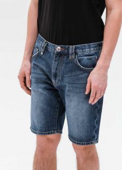 Джинсовые шорты Philipp Plein с логотипом, фото