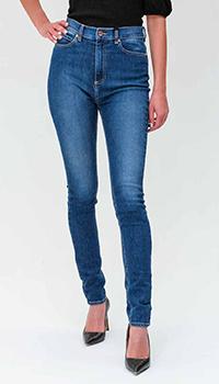 Синие джинсы Red Valentino с высокой талией, фото