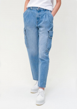 Голубые джинсы Red Valentino с накладными карманами, фото