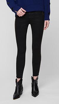 Черные джинсы OneTeaspoon с лампасами, фото