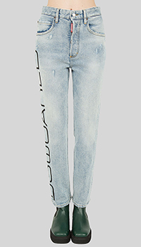 Джинсы Dsquared2 Tight Cropped с принтом, фото