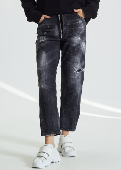 Прямые джинсы Dsquared2 Boston с потертостями, фото