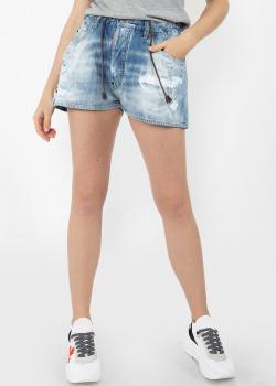 Джинсовые шорты Dsquared2 с вышивкой на заднем кармане, фото