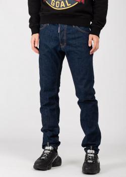 Синие джинсы Dsquared2 с контрастной строчкой, фото