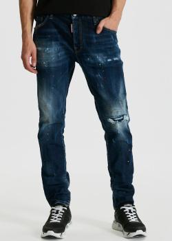 Зауженные джинси Dsquared2 Skater Jean с прорезью на колене, фото
