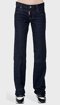Темно-синие джинсы Dsquared2 прямого кроя, фото