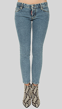 Джинсы Dsquared2 Jennifer Cropped Jean с аппликацией, фото