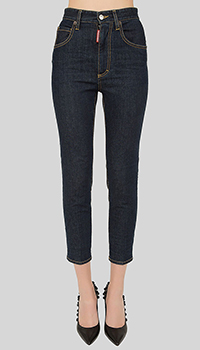 Джинсы Dsquared2 High Waist Cropped Twiggy Jean, фото