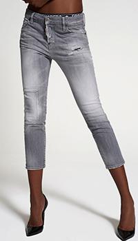 Укороченные джинсы Dsquared2 серого цвета, фото