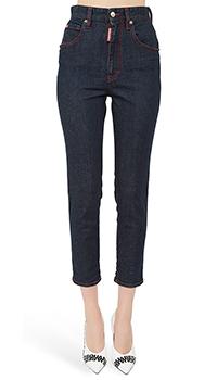 Синие джинсы Dsquared2 с высокой талией, фото