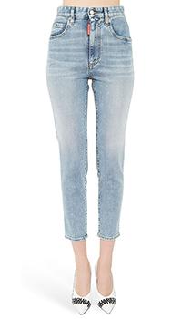 Зауженные джинсы Dsquared2 голубого цвета, фото