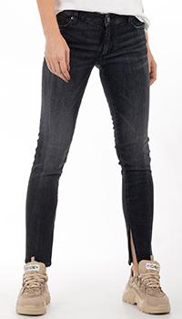 Черные джинсы Dsquared2 с разрезами, фото