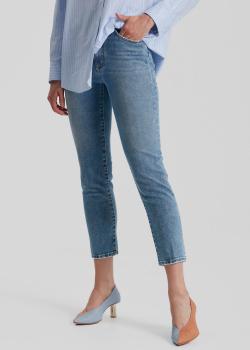 Укороченные джинсы-скинни Dsquared2 со стразами на задних карманах, фото
