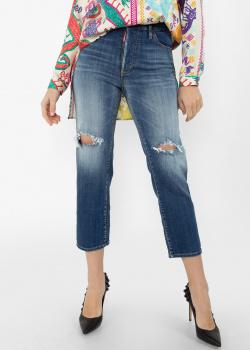 Рваные джинсы Dsquared2 синего цвета, фото