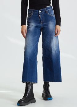 Широкие джинсы Dsquared2 с потертостями, фото