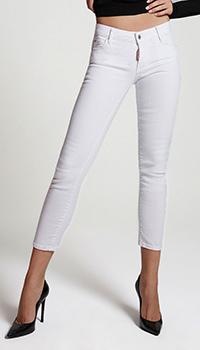 Белые джинсы Dsquared2 Icon с низкой посадкой, фото