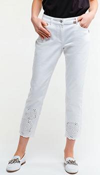 Белые джинсы Sportalm с перфорацией, фото