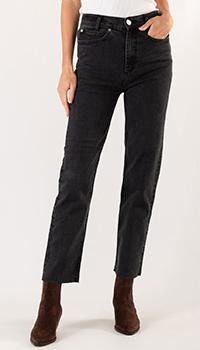 Черные джинсы Sandro с необработанным краем, фото