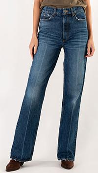 Широкие джинсы Sandro синего цвета, фото