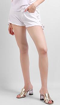 Джинсовые шорты Silvian Heach со шнуровкой, фото