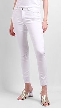 Джинсы-скинни Silvian Heach белого цвета, фото