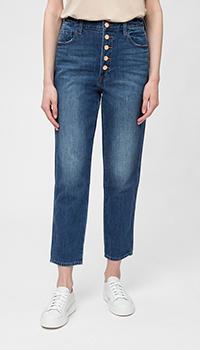 Укороченные джинсы J Brand синего цвета, фото