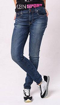 Узкие джинсы Polo Ralph Lauren синего цвета, фото