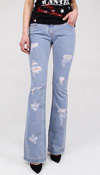 Расклешенные джинсы Blumarine голубого цвета, фото