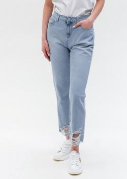 Голубые джинсы Twin-Set с необработанным краем, фото